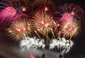Wedding Fireworks Peckforton Castle